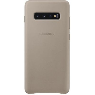 image Samsung Coque en cuir pour Galaxy S10+ Gris