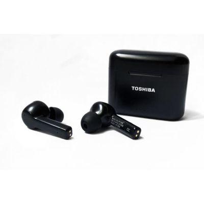 image TOSHIBA RZE-BT1050EK - Ecouteurs True Wireless intra auriculaire Bluetooth - Active Noise Cancelling - Boitier de charge - Noir