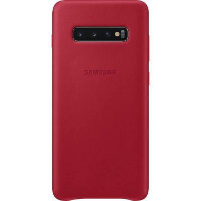image Samsung Coque en cuir pour Galaxy S10+ Rouge bordeaux