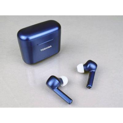 image TOSHIBA RZE-BT750EL- Ecouteurs True Wireless intra auriculaire Bluetooth - Auto-pairing - Boitier de charge (Qi) - Bleu