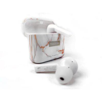 image TOSHIBA RZE-BT750EPNZ- Ecouteurs True Wireless intra auriculaire Bluetooth - Auto-pairing - Boitier de charge (Qi) - Marbre