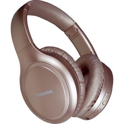 image TOSHIBA RZE-BT1200HPN - Casque Arceau supra auriculaire Bluetooth - Noise Cancelling - 22dB - Fonction mains libres - Rose Gold