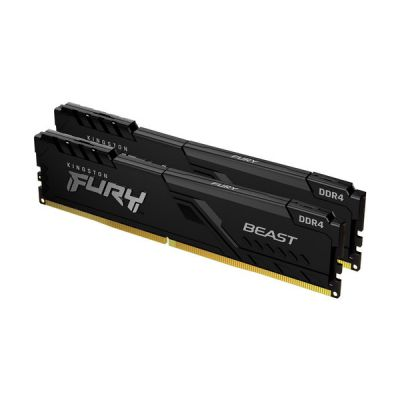 image Kingston FURY Beast 8GB (2x4GB) 3200MHz DDR4 CL16 Mémoire Kit pour PC Kit de 2 KF432C16BBK2/8