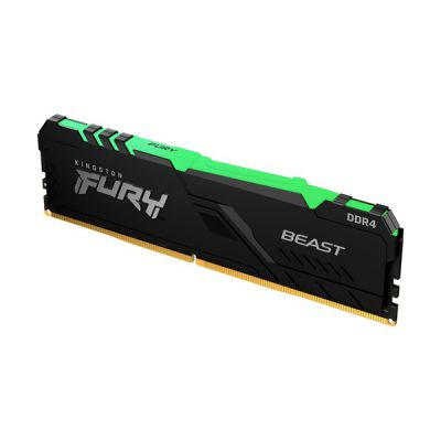 image Kingston FURY Beast RGB 8GB 3200MHz DDR4 CL16 Mémoire Kit pour PC Module Simple KF432C16BBA/8