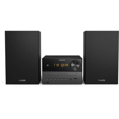 image Philips M3505/12 Mini Chaîne Hi-FI CD, USB, Bluetooth (Radio Dab+/FM, CD-MP3, 18 W, Port USB pour Charge, Enceintes Bass Reflex, Contrôle Numérique du Son) - Modèle 2020/2021