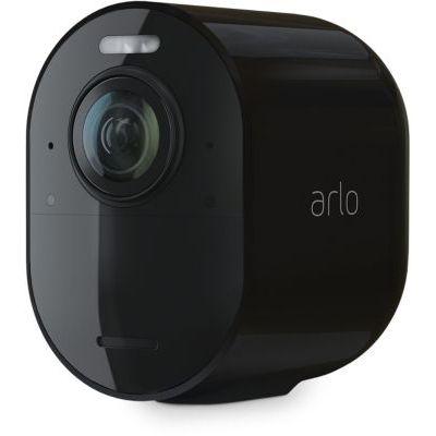 image Arlo Ultra 2 Spotlight Camera de Surveillance WiFi, sans Fil, vidéo 4K et HDR, Vision Nocturne, Audio bidirectionnel, détection de Mouvement, Champ de Vision à 180°, SmartHub requis, VMC5040B