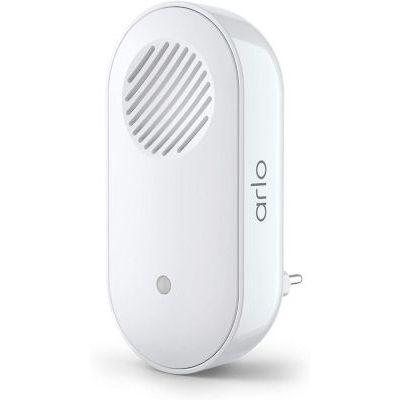 image Accessoire certifie Arlo | Arlo Smart Chime 2 | Alerte audio | Sirene integree | Melodie a personaliser | Connections Directe Wi-Fi | Compatible avec Arlo Sonnette video l AC2001 | Interieure | Blanc