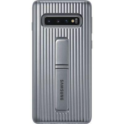 image Samsung Coque renforcée Antichoc fonction Stand pour Galaxy S10 - Argent