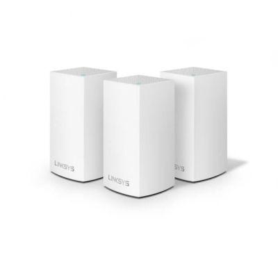 image Linksys Système Wi-Fi Mesh Multiroom Velop VLP0103 (Wi-Fi AC3600 / extension Wi-Fi pour encore plus de portée, contrôle parental, pack de 3, portée de signal jusqu'à 400 m2, blanc)