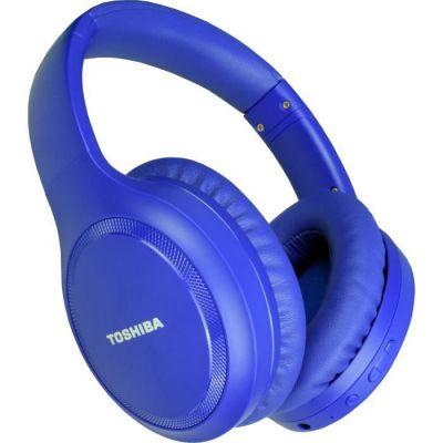 image TOSHIBA RZE-BT1200HL - Casque Arceau supra auriculaire Bluetooth - Noise Cancelling - 22dB - Fonction mains libres - Bleu