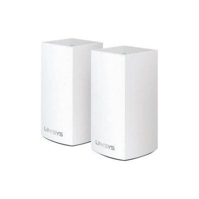 image Linksys Système Wi-Fi Mesh Multiroom Velop VLP0102 (Wi-Fi AC2400 / extension Wi-Fi pour encore plus de portée, contrôle parental, pack de 2, portée de signal jusqu'à 260 m2, blanc)