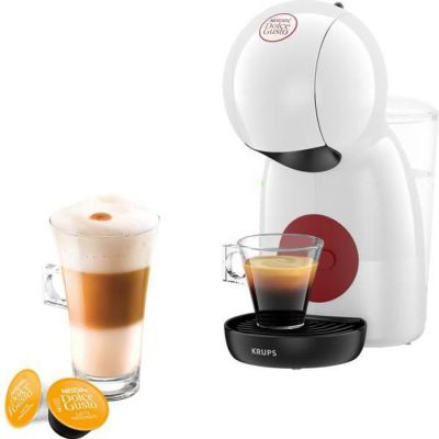 image Krups Nescafé Dolce Gusto Piccolo XS, Machine à café à capsules pour boissons chaudes et froides, 15 bars de pression, dosage manuel de l'eau Blanc.