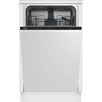 image Beko DIS26021 lave-vaisselle Entièrement intégré 10 places A++ - Lave-vaisselles (Entièrement intégré, Métallique, Noir, LCD, 10 places, 47 dB)