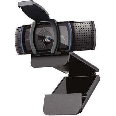 image Logitech C920s HD Pro Webcam, Full HD 1080p/30ips, Appels Vidéos, Audio Clair, Correction Automatique de la Lumière, Volet de Protection, Skype, Zoom, FaceTime, Hangouts, PC/Mac/Portable/Tablette/XBox