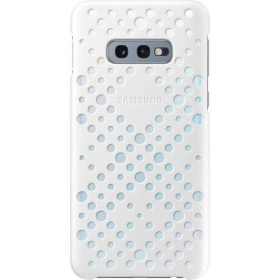 image Samsung Coque perforée pour Galaxy S10e - Blanc & Jaune