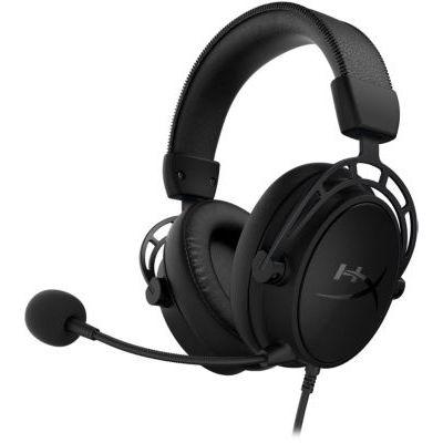 image HyperX Cloud Alpha S - Casque de jeu, pour PC et PS4, Son Surround 7.1, Graves réglables, Transducteurs à double chambre, Mixage chat, Microphone à suppression de bruit de fond HX-HSCAS-BK/WW Noir