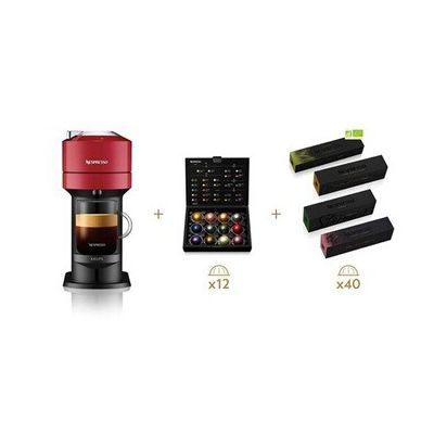 image Krups Nespresso Vertuo Next rouge + 52 capsules Nespresso offertes, Machine à café 1,1 L, Café filtre Espresso, Café grande tasse, Café fraîchement moulu, Café long Nespresso, Gran Lungo YY4800FD