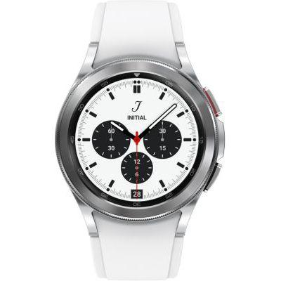 image Samsung Galaxy Watch4 Classic montre connectée intelligente, smartwatch, lunette tournante, suivi de la condition physique, santé, bien-être, sport, IMC, ECG, bluetooth, 42 mm, argent