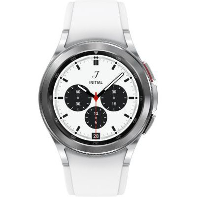image Samsung Galaxy Watch4 Classic 4G montre connectée intelligente, smartwatch, lunette tournante, suivi de la condition physique, santé, bien-être, sport, IMC, ECG, 42 mm, argent