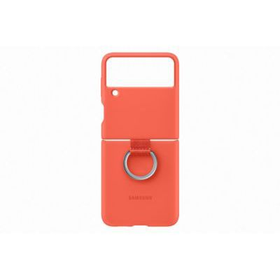 image Samsung Coque Silicone avec Anneau Corail Galaxy Z Flip 3