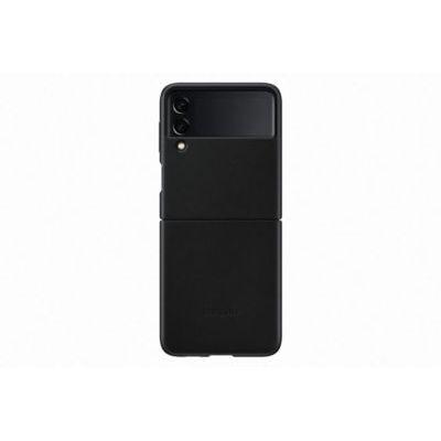 image Samsung Coque en Cuir Noir Galaxy Z Flip 3