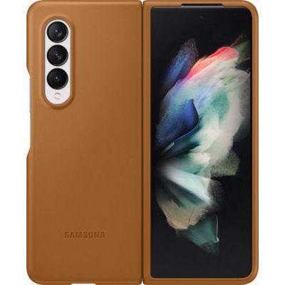image Samsung Coque en Cuir Marron Clair Galaxy Z Fold 3