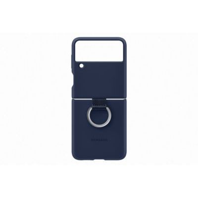 image Samsung Coque Silicone avec Anneau Navy Galaxy Z Flip 3