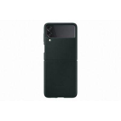 image Samsung Coque en Cuir Vert Galaxy Z Flip 3