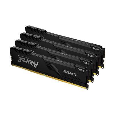 image Kingston FURY Beast 16GB (4x4GB) 2666MHz DDR4 CL16 Mémoire Kit pour PC Kit de 4 KF426C16BBK4/16