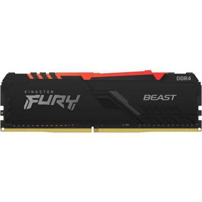 image Kingston FURY Beast RGB 8GB 3600MHz DDR4 CL17 Mémoire Kit pour PC Module Simple KF436C17BBA/8