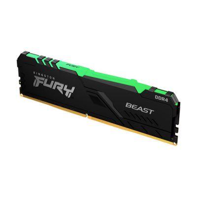 image Kingston FURY Beast RGB 32GB 3000MHz DDR4 CL16 Mémoire Kit pour PC Module Simple KF430C16BBA/32