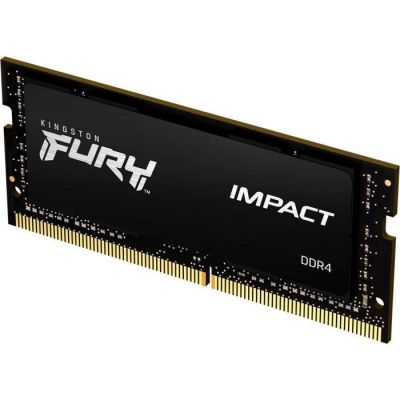 image Kingston FURY Impact 16GB 3200MHz DDR4 CL20 Mémoire d'ordinateur Portable Module Simple KF432S20IB1/16