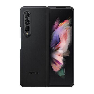 image Samsung Coque en Cuir Noir Galaxy Z Fold 3