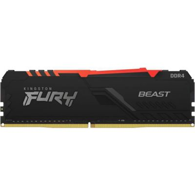 image Kingston FURY Beast RGB 16GB 3200MHz DDR4 CL16 Mémoire Kit pour PC Module Simple KF432C16BBA/16