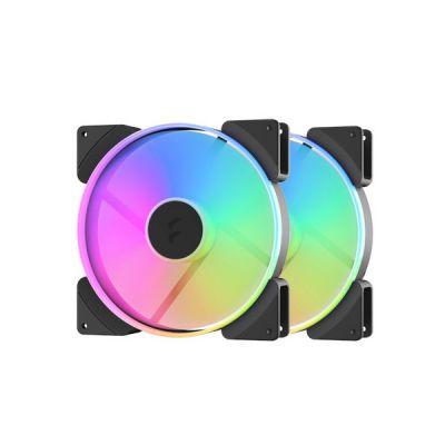 image Fractal Design Prisma AL-18 PWM Boitier PC Ventilateur 18 cm Noir, Blanc 2 pièce(s)