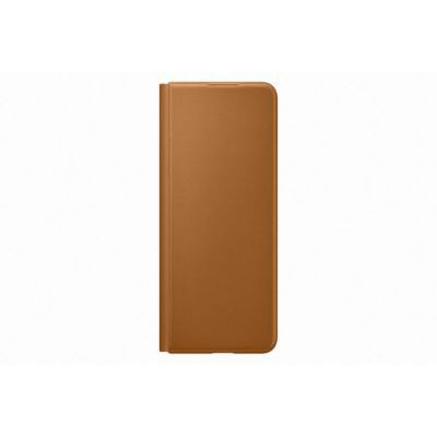 image Samsung Etui en Cuir avec Rabat Marron Clair Galaxy Z Fold 3