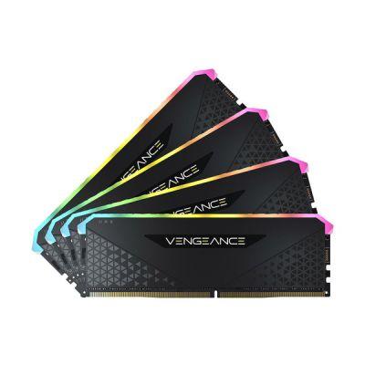 image Corsair Vengeance RGB RS 32Go (4x8Go) DDR4 3200MHz C16 Mémoire de Bureau (Éclairage RGB Dynamique, Temps de Réponse Serrés, Compatible avec Intel X299, AMD TRX40 & Intel/AMD 300/400/500 Series) Noir