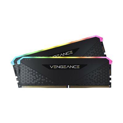image Corsair Vengeance RGB RS 64Go (2x32Go) DDR4 3200MHz C16 Mémoire de Bureau (Éclairage RGB Dynamique, Temps de Réponse Serrés, Compatible avec Intel 400/500 & AMD 300/400/500 Series) Noir