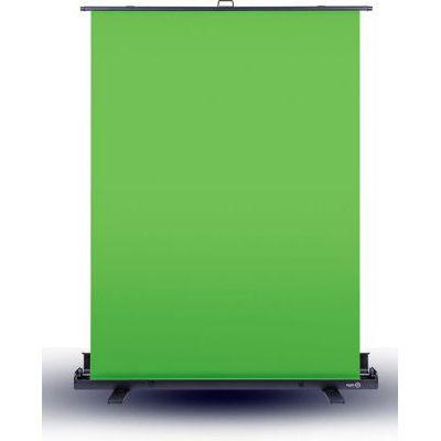 image Elgato Green Screen - Fond Vert Rétractable pour Suppression de l'arrière-Plan, avec Cadre autobloquant, Toile Verte Anti-Plis, Boîtier en Aluminium, Installation et Démontage Ultra-Rapides