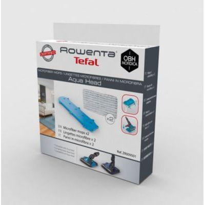 image Rowenta ZR009501 Lot de 2 Lingettes Microfibre compatibles avec Les aspirateurs Balai Air Force, X-Pert Essential, Xforce Flex 8.60, Noir