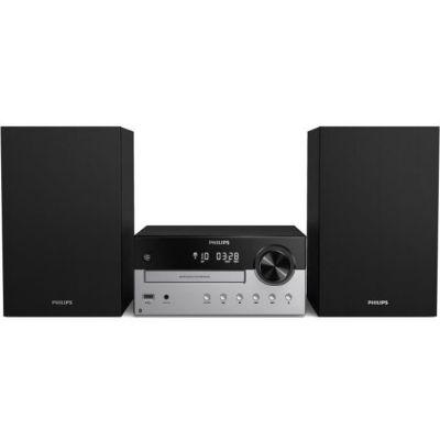 image Philips M4205/12 Mini Chaîne Hi-FI CD, USB, Bluetooth (Radio FM, CD-MP3, 60 W, Entrée Audio, Port USB pour Charge, Enceintes Bass Reflex, Contrôle Numérique du Son) - Modèle 2020/2021