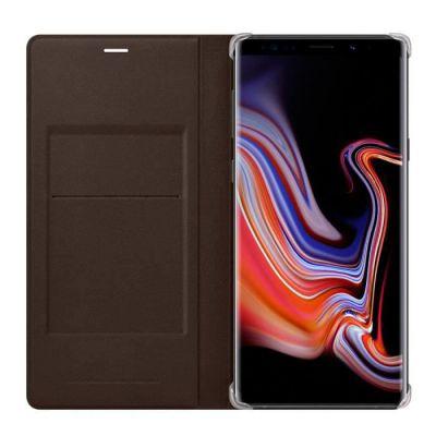 image Samsung Etui à rabat cuir pour Galaxy Note 9 Marron