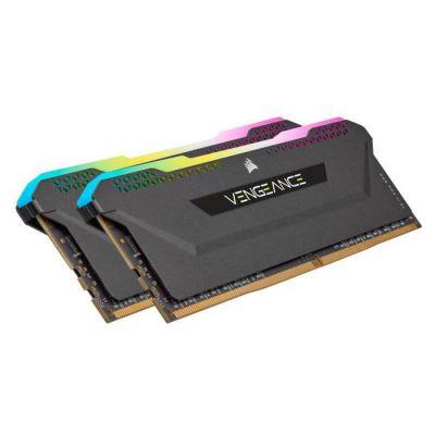 image Mémoire de Bureau CORSAIR Vengeance RGB Pro SL 16 Go (2x8 Go) DDR4 3600 (PC4-28800) C16 - Noir