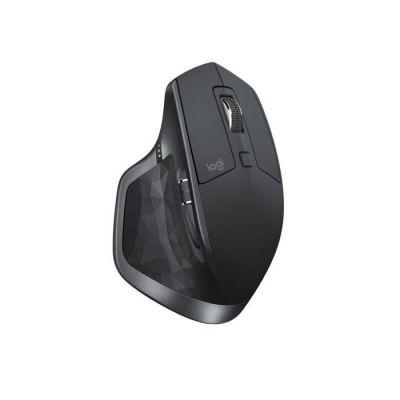 image Logitech MX Master 2S Souris sans Fil, Multi-Dispositifs, Bluetooth ou 2,4GHz Récepteur USB Unifying, Précision 4000 PPP Suivi sur toute Surface, 7 Boutons, Recharge Rapide, PC/Mac/i Pad OS - Gris