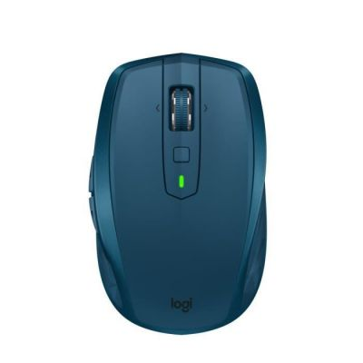image Logitech MX Anywhere 2S Souris sans Fil, Multi-Dispositif, Bluetooth et 2,4 GHz avec récepteur USB Unifying, Suivi Laser sur Toute Surface 200 à 4000 PPP, 7 Boutons, Portable/PC/Mac/iPad OS - Bleue
