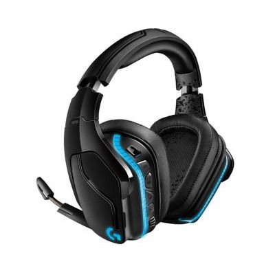 image produit Logitech G935 Casque Gamer Sans Fil, Son 7.1 Surround, DTS Headphone : X 2.0, Transducteurs 50mm Pro-G, 2,4 GHz, Micro avec Sourdine Flip-Up, RVB LightSync, PC/Mac/Xbox One/PS4/Nintendo Switch - Noir