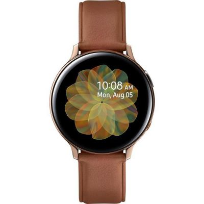image Samsung - Montre Galaxy Watch Active 2 4G - Acier 44 mm - Or - Version Française