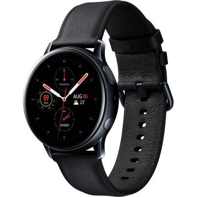image Samsung - Montre Galaxy Watch Active 2 Bluetooth - Acier 40 mm - Noir Diamant - Version Française
