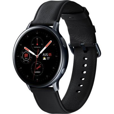 image Samsung - Montre Galaxy Watch Active 2 Bluetooth - Acier 44 mm - Noir Diamant - Version Française