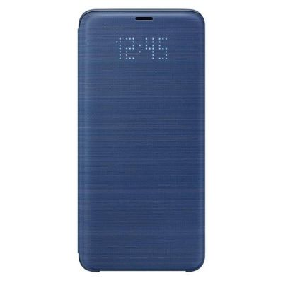 image Samsung EF-NG965PLEGWW Etui folio LED View Cover pour Galaxy S9+ Uniquement, Bleu